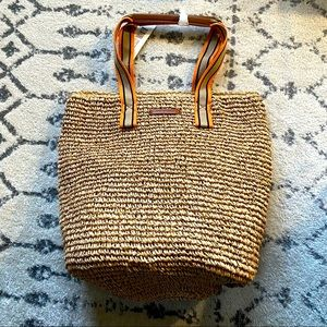 French Connection Straw tote